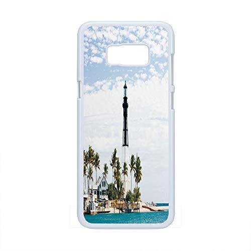 - Cell Phone Case Compatible Samsung Galaxy S8 Plus,United States - Hard Plastic Phone Case/White - Hillsboro Lighthouse Pompano Beach Florida Atlantic Ocean Palms Coast Decorative