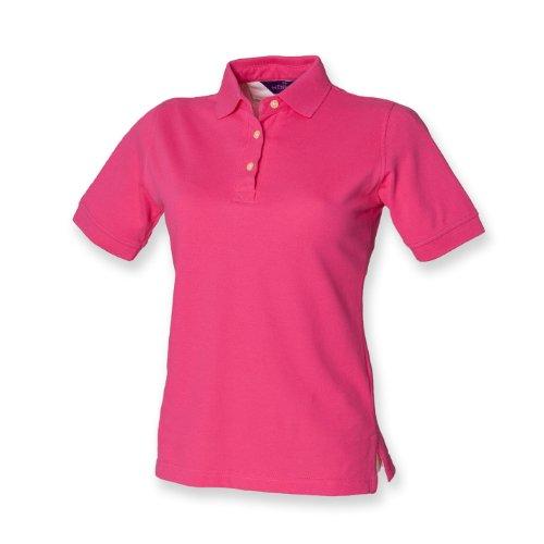 Henbury Frauen Poloshirt klassisch Fuchsia XL