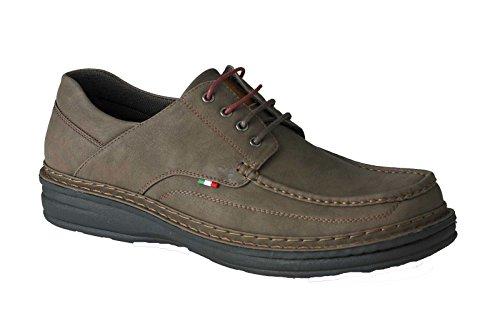 Duke Mens Kingsize Big Tall D555 PU Leather Casual Lace Up Shoe Sizes Upto UK15-Brown-14 UK