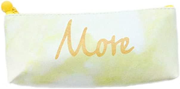 Tmacok - Estuche para lápices, diseño de letra M O R E, color amarillo, resistente al desgaste, fácil de llevar: Amazon.es: Oficina y papelería