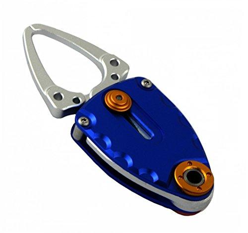 Discover Fish® 1pcs PRO New Compact Fish Lip Grip Gripper Grabber Grips Trigger Aluminum Sea Saltwater Blue
