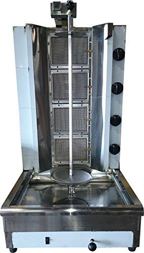Machine Gas Gyro (Tacos Al Pastor Gas Doner Kebab Machine - Shawarma Grill Gyros Automatic Vertical Broiler)