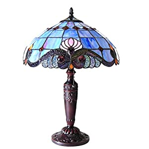 Chloe Lighting CH15063LV15-TL2 Shelly Tiffany-Style 2 Victorian Table Lamp 14.5″ Shade 2 Light