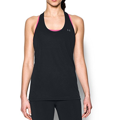 Under Armour Women's Threadborne Train Tank, Black/Graphite, X-Small
