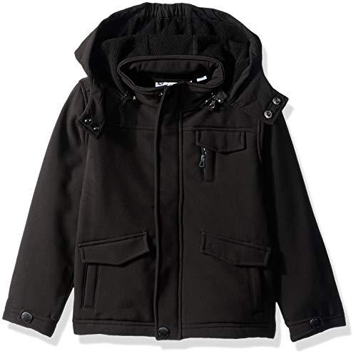 Ben Sherman Boys' Toddler Softshell Outerwear Jacket, Black, 2T