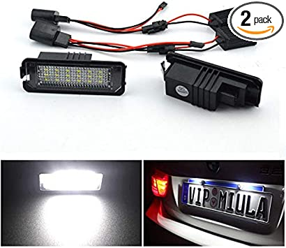 Pair Canbus Xenon White LED Number//Licence Plate Bulbs Replacement For VW