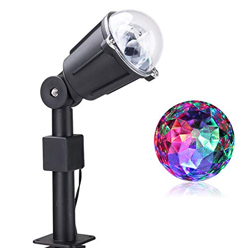 BRIGHT ZEAL Rotating LED Dj Party Lights Disco Ball Lamps - Multicolor Karaoke Dance Lights 4 Room - Stage Lights Effect Strobe Lights 4 Parties Outdoor - Kaleidoscope Light Projector Indoor Lightshow (Best Projector For Bright Room)