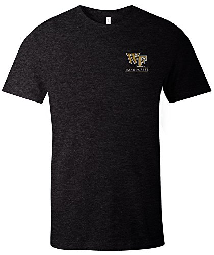 - NCAA Wake Forest Demon Deacons Adult NCAA Simple Mascot Short sleeve Triblend T-Shirt,Large,Black