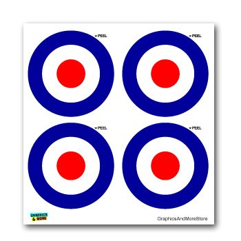 Royal Air Force RAF Insignia Roundel SET of 4 Window Bumper Laptop Stickers