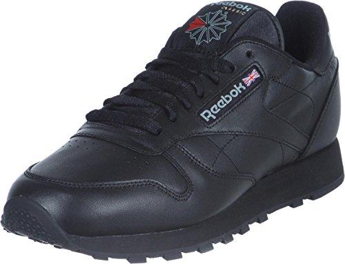Reebok Classic Leather, Baskets Basses Femme Noir (Intense Black)
