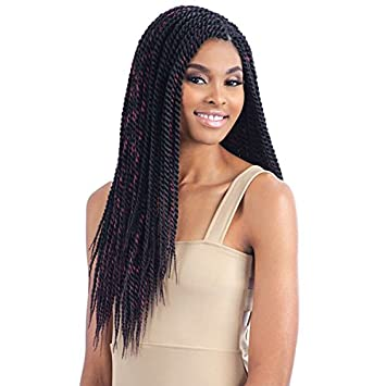 Amazing Amazon Com Senegalese Twist Large 1 Jet Black Model Model Short Hairstyles Gunalazisus
