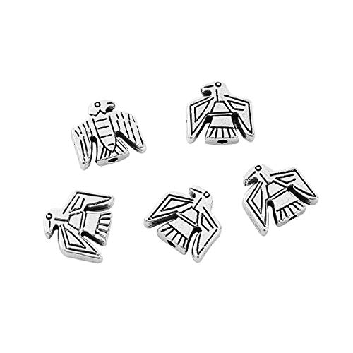 """PEPPERLONELY 50pc Antiqued Silver Alloy Beads Eagle Charms Pendants 12 x12mm(4/8"""" x 4/8"""")"""