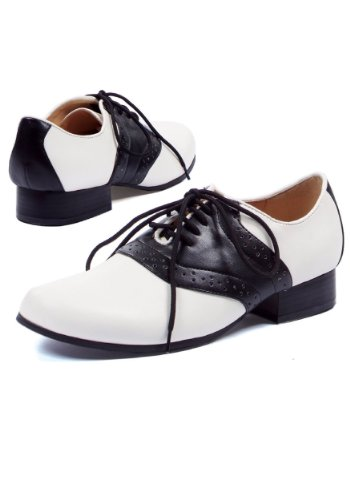 Ellie Shoes Women's 105-saddle, Black/White, 7 M US -