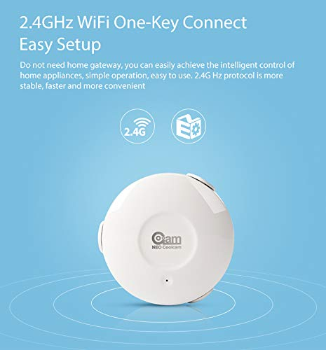 Rgrtmer NEO Coolcam NAS-WS02W WiFi Smart Flood Leak Sensor Water Leakage Wi-Fi Detector App Notification Alerts