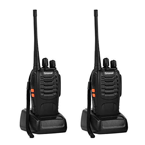 Greaval 2 Way Radio Long Range Walkie Talkie with Earpiece 16-Channel UHF 400-470MHz (Pack of 2)]()