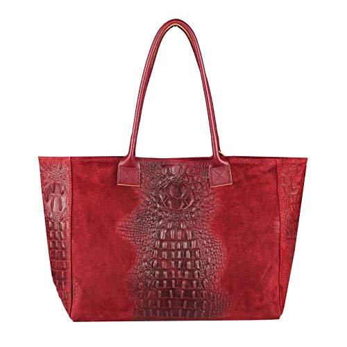 pour Sac main COM xl à bonbon rose Rouge ITALYSHOP24 femme Rose Foncé FIqS4q5x