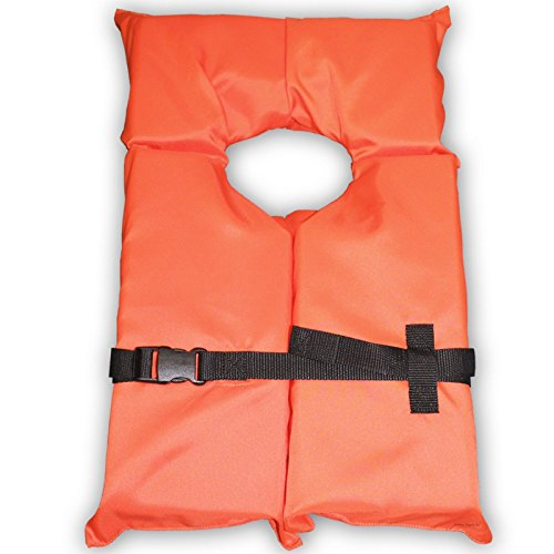 Type II Orange Life Jacket Vest PFD - Adult Universal - Coast Guard Approved by Unknown