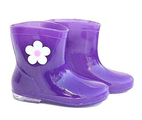 Trendy enfants avec bottes Motif Fleur Violet