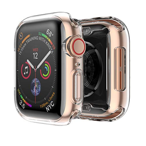 Fintie Case for Apple Watch Series 4 44mm, [Built-in Screen Protector] Soft TPU HD Clear Ultra-Thin All-Around Protective iWatch Cover for 2018 Apple Watch 44mm [2 Pack]