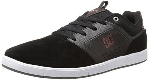 DC Men's Cole Signature Skateboarding Shoe, Black/Red/White, 10 M US
