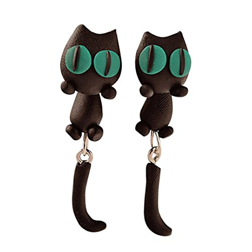 1Pair Earring Handmade Clay Soft Pottery Earrings Animal Jewelry Accessories by TOPUNDER