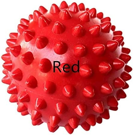 Jltx-my 6.5センチメートル足のボールフットマッサージフィットネスボール頸椎のリハビリテーションストローク鍼のヘルスケアの手のボール筋膜ボール (色 : 赤)