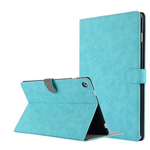 Price comparison product image MChoice for 10.8 inch Huawei MediaPad M5 Leather Stand Protective Case Cover (Light Blue)