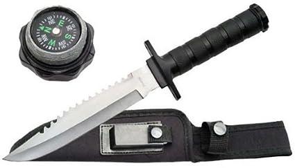 Amazon.com: 12 en cuchillo de supervivencia militar 210681bk ...