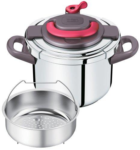 ティファール 圧力鍋 「クリプソ アーチ」 ワンタッチ開閉 IH対応 パプリカレッド 6L P4360732