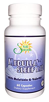 Medulla Zzz®#1 Natural Medicinal Sleep Aid -Herbal-Effective- Non Habit Forming Supplement with Pure Melatonin , Valerian & Passion Flower to ease your restless nights-60 capsules