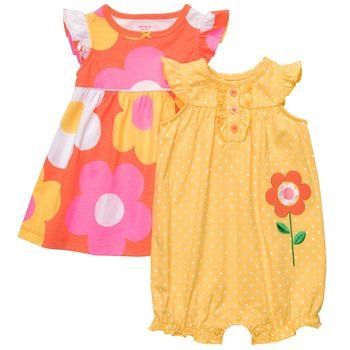 Carters Baby Girls' 2 Pack Sunflower Dress Set