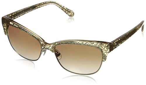 Kate Spade Women's Shira Cateye Sunglasses, Gold Glitter, 55 - Cat Glitter Eye Glasses