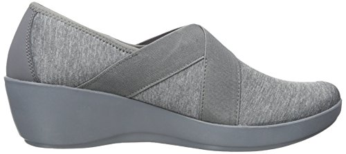 Crocs Mujeres Busy Day Wedned Asym Wedge Plano Gris Oscuro