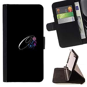Momo Phone Case / Flip Funda de Cuero Case Cover - Negro Iniciales de la letra de la caligrafía del texto - Huawei Ascend P8 Lite (Not for Normal P8)