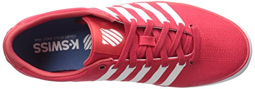 K-swiss Mens Court Pro Vulc Fashion Sneaker Rood / Wit