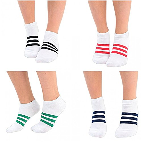 6 4 tiras blanco con calcetines Reino Rayas surtidos Entrenamiento Eesa o 4 de 3 Unido a Tama paquetes pares 2 mujer colores Adam 1 pFqPR447