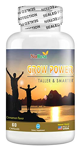 Grow Power Pills - Maximum Natural Growth Height Formula for Children and Teens-Height Growth Supplement - How to Grow Taller | 60 Veggie Capsules