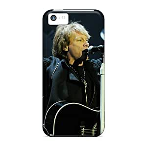Shock Absorption Hard Cell-phone Case For Apple Iphone 5c With Provide Private Custom Stylish Jon Bon Jovi In Concert Image JacquieWasylnuk