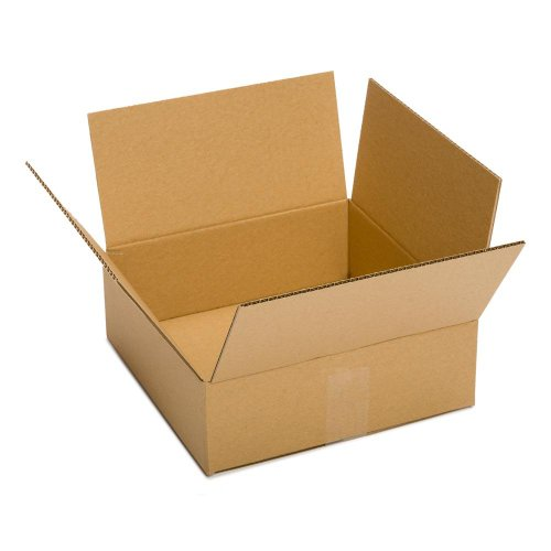 "Pratt PRA0058 Recycled Corrugated Cardboard Single Wall Standard Flat Box with C Flute, 12"" Length x 12"" Width x 3"" Height, (Pack of 25) from Pratt"