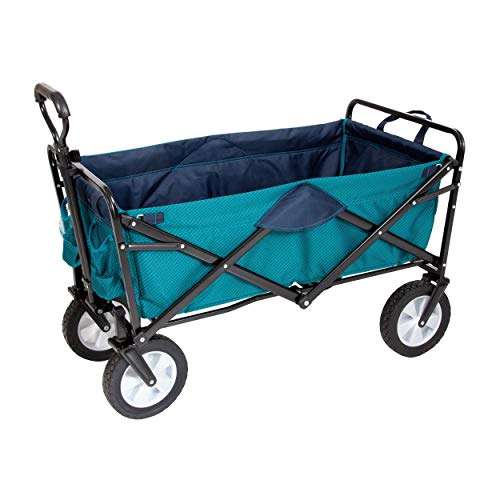 Mac Sports Collapsible Folding Outdoor Utility Wagon, Teal