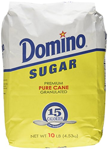 Domino Sugar, Granulated, 10-Pound Bags