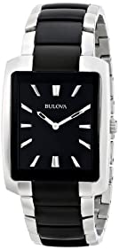 Bulova Men's Two Tone Rectangle Watch