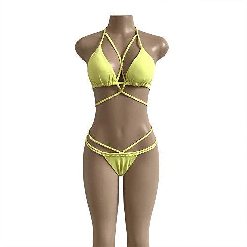 Fait MainCouleur Fuweiencore Bikini Bikini Fait Fuweiencore MainCouleur PureJaunecoloréTaille TFKcJ3l1