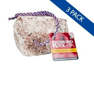 Image of REDMOND - Rock on a Rope Unrefined Salt Rock for Horses 3 to 5 lbs (3 Pack)