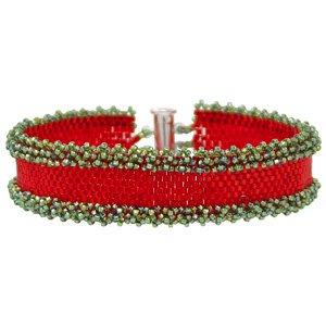 Peyote Ruffle Bracelet Kit - Holiday - Exclusive Fusion Beads Jewelry (Peyote Bead Bracelet)
