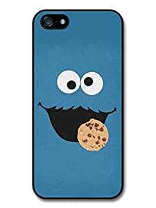 AMAF ? Accessories Cookie Monster Muppet Blue Face Minimalist Poster TV Show case for iPhone 5 5S