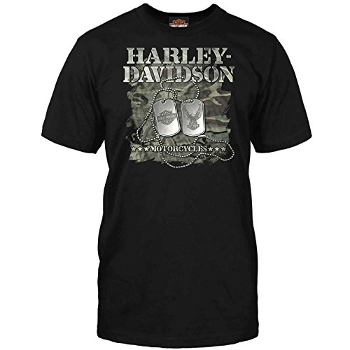 Harley-Davidson Men's T-Shirt - Military Dog Tags | Overseas Tour -