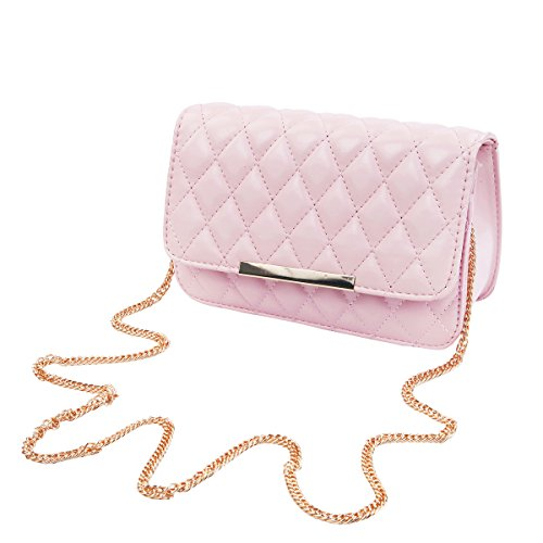Classic Smooth Quilted Flap Clutch Handbag Crossbody Shoulder Bag, (Classic Flap Leather)