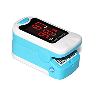 CONTEC LED Pulse Oximeter,SpO2 and PR Value Waveform Blood Oxygen, Carrying Case, Neck/Wrist Cord