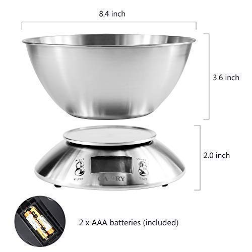 Buy digital food scale with bowl